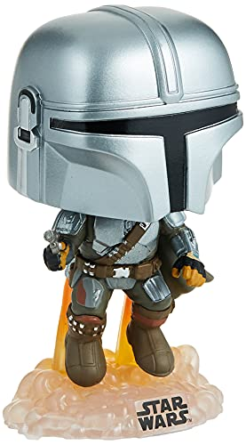 Funko POP! Star Wars #408 - The Mandalorian [Flying with Blaster] Exclusive