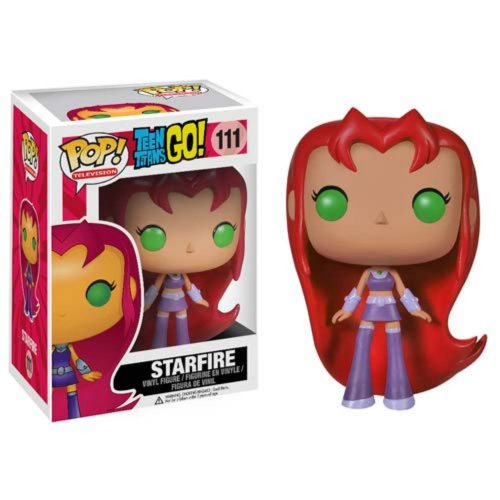 "Funko POP TV: Teen Titans Go! - Starfire Action Figure,Orange,4"""