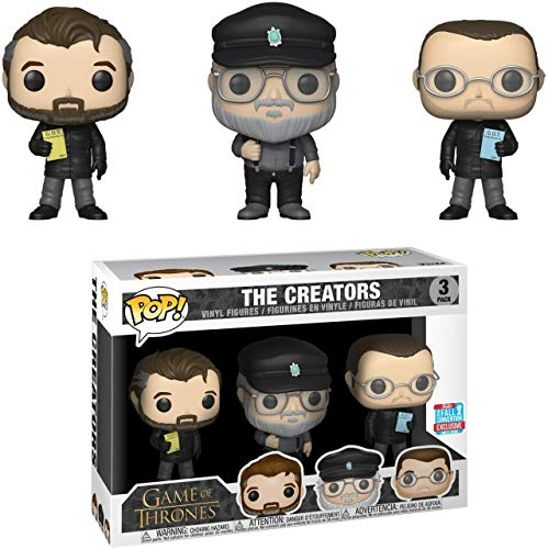 Funko POP! Television: Game of Thrones - The Creators (3 Pack) 2018 Fall Convention Shared Exclusive