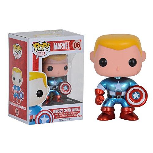 Funko POP Vinyl Comikaze Exclusive 2014 Unmasked Captain America Figure