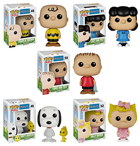 Funko Peanuts POP! TV Collectors Set: Charlie, Lucy, Sally, Linus, Snoopy & Woodstock Action Figure
