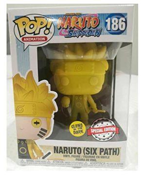 Funko Pop! 186 Naruto Shippuden Six Path Glow in The Dark GITD Yellow Exclusive Figure
