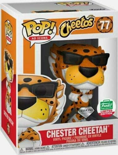 Funko Pop Ad Icons Cheetos! Chester Cheetah #77 Diamond Collection Funko Shop Exclusive