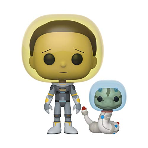 Funko Pop! Animation: Rick and Morty - Space Suit Morty with Snake, 3.75 inches
