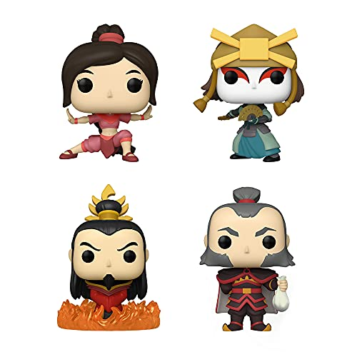 Funko Pop! Avatar The Last Airbender Set of 4: Admiral Zhao, Fire Lord Ozai, Suki and Ty Lee