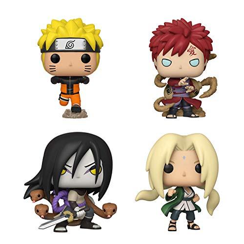 Funko Pop! Bundle of 4: Naruto - Naruto Running, Gaara, Orochimaru, and Lady Tsunade