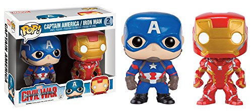 Funko Pop Captain America Civil War Exclusive 2-Pack With Cap and Iron Man