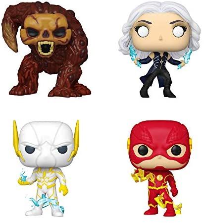 Funko Pop! DC Comics The Flash Set of 4: The Flash, Killer Frost, Bloodwork and Godspeed