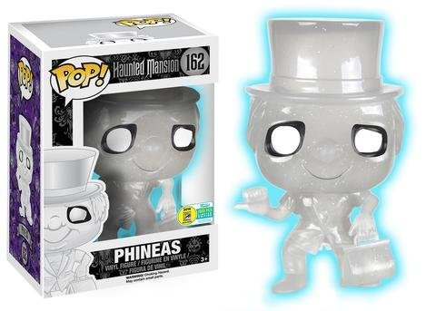 Funko Pop! Disney #162 Haunted Mansion Phineas Glow in The Dark LE 1000 (SDCC 2016 Exclusive)