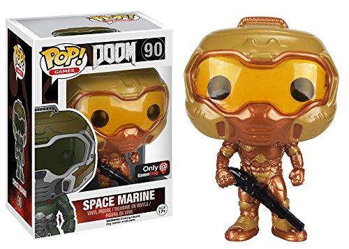 Funko Pop! Games DOOM Gold Space Marine #90 (Exclusive)