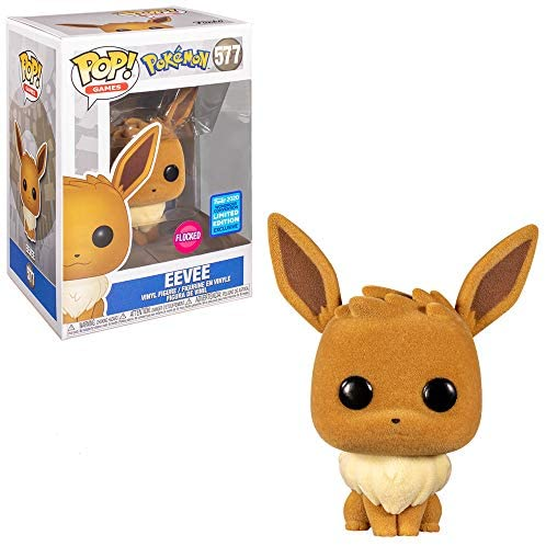 Funko Pop! Games: Flocked Eevee Wondrous Convention Limited Edition Exclusive #577