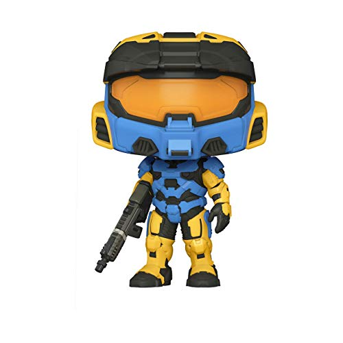 Funko Pop! Games: Halo Infinite - Spartan Mark VII with VK78, Blue & Yellow, with Game Add On, 3.75 inches