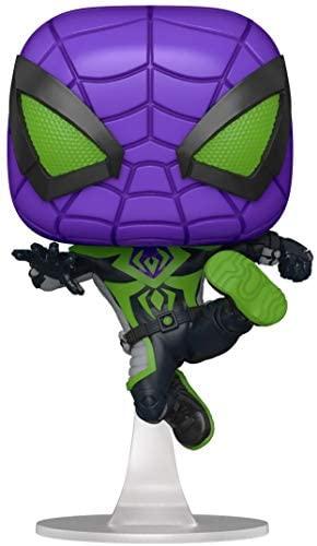 Funko Pop! Games: Marvel's Spider-Man: Miles Morales - Miles Purple Rain Suit Multicolor, 3.75 inches