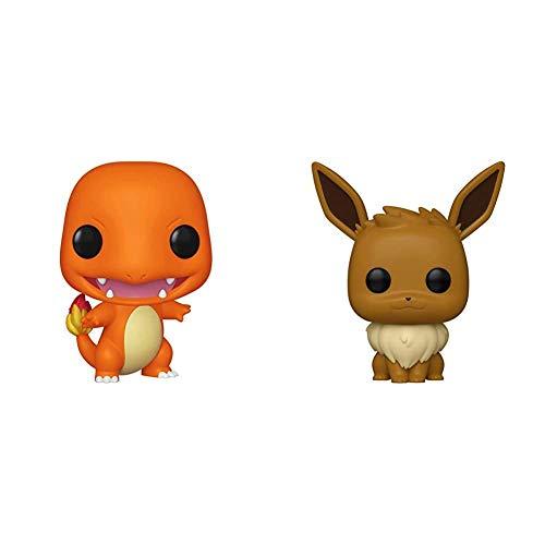 Funko Pop! Games: Pokemon - Charmander, Multicolor & Pop! Games: Pokemon - Eevee