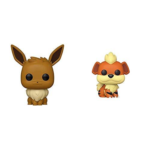 Funko Pop! Games: Pokemon - Eevee & Pop! Games: Pokemon - Growlithe, Multicolor
