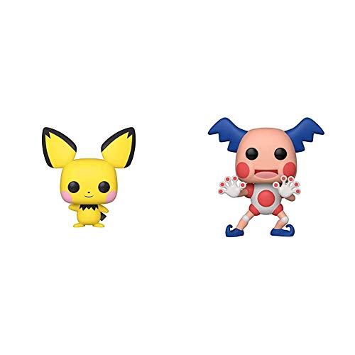 Funko Pop! Games: Pokemon - Pichu, Multicolor,3.75 inches & Pop! Games: Pokemon - Mr. Mime,Multicolor,3.75 inches