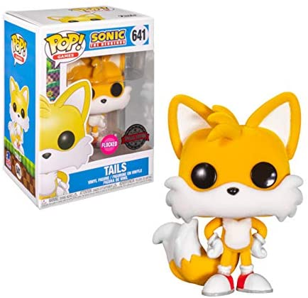 Funko Pop! Games Sonic Tails 641 Flocked Target Exclusive Target Con 2021