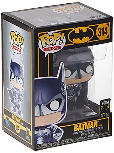 Funko Pop! Heroes: Batman 80th - Batman (1997), 2.5 x 2.5 x 3.8 inches