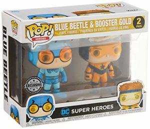 Funko Pop Heroes: DC Justice League - Booster Gold & Blue Beetle Vinyl Figures (2-Pack)