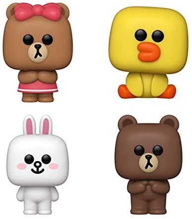 Funko Pop! Line Friends Set of 4: Brown, Cony, Sally and Choco