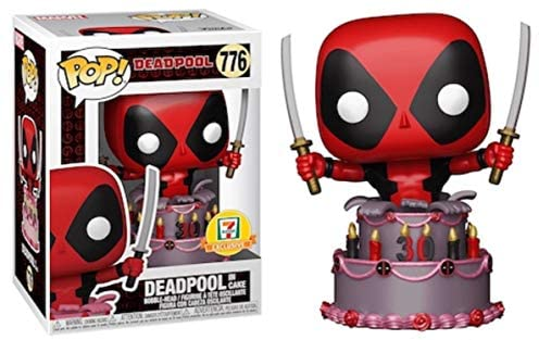 Funko Pop! Marvel 7/11 Exclusive 30th Anniversary Deadpool in Birthday Cake #776 w/ Free Acrylic Case