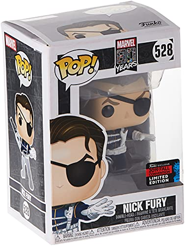 Funko Pop! Marvel 80 Years Classic Nick Fury 523 NYCC Shared Sticker Exclusive