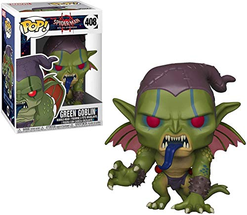 Funko Pop Marvel: Animated Spider-Man Movie - Green Goblin Collectible Figure, Multicolor