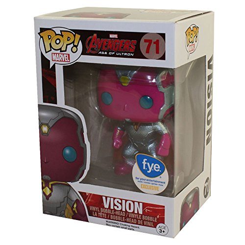 Funko Pop Marvel Avengers Age of Ultron Vision Metallic Exclusive Vinyl Bobblehead Figure