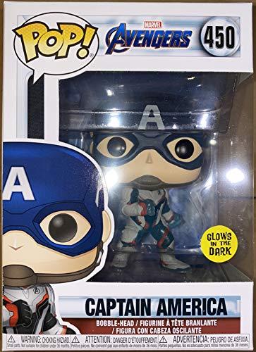 Funko Pop! Marvel Avengers Captain America Exclusive Glows In The Dark #450