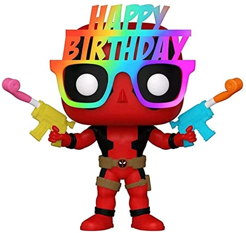 Funko Pop Marvel Birthday Glasses Deadpool