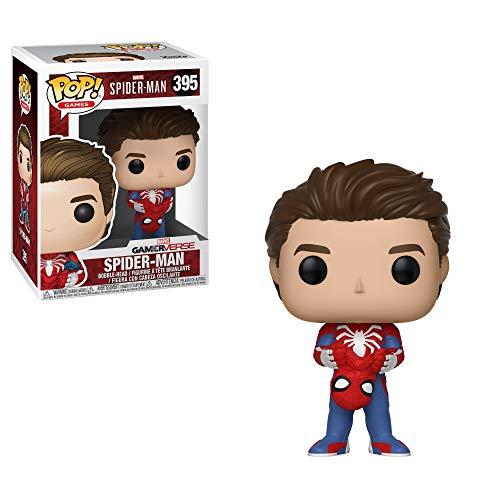 Funko Pop Marvel Games: Spider-Man Video Game - Unmasked Spider-Man Collectible Figure, Multicolor, Standard