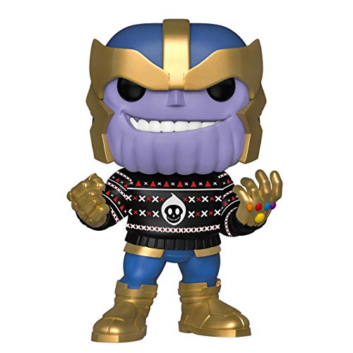 Funko Pop! Marvel: Holiday - Thanos in Ugly Sweater, Multicolor