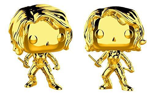 Funko Pop Marvel: Marvel Studios 10 - Black Widow (Gold Chrome) Collectible Figure, Multicolor
