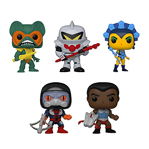Funko Pop! Masters of The Universe Retro Toys Set of 5: Clamp Champ, Dragstor, Evil-Lyn, Horde Trooper and Mer-Man