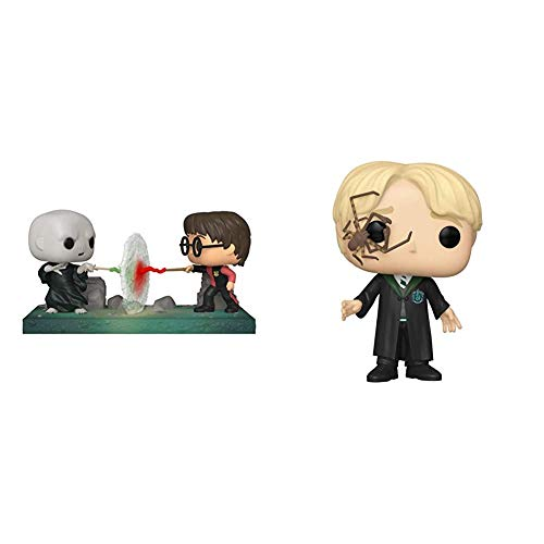 Funko Pop! Moment: Harry Potter - Harry VS Voldemort, Multicolor & Pop! Harry Potter: Harry Potter - Malfoy with Whip Spider