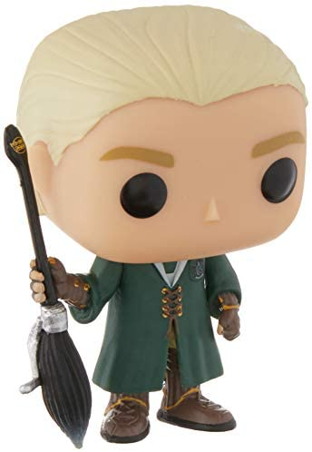 Funko Pop Movies: Harry Potter - Quidditch Draco Malfoy Collectible Figure, Multicolor