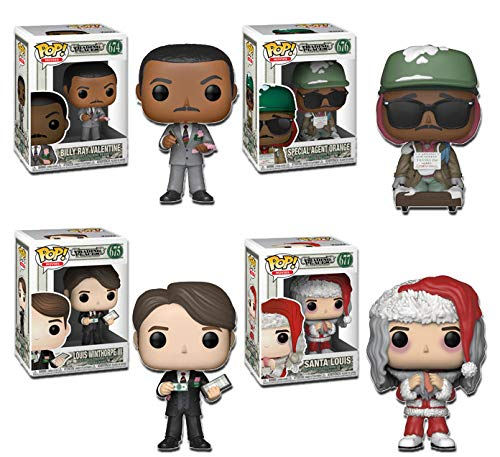 """Funko Pop! Movies: Trading Places Collectible Vinyl Figures, 3.75"""" (Set of 4)"""