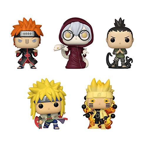 Funko Pop! Naruto Set of 5: Naruto 6Path Sage, Minato Namikaze, Kabuto Yakushi, Shikamaru Nara and Pain