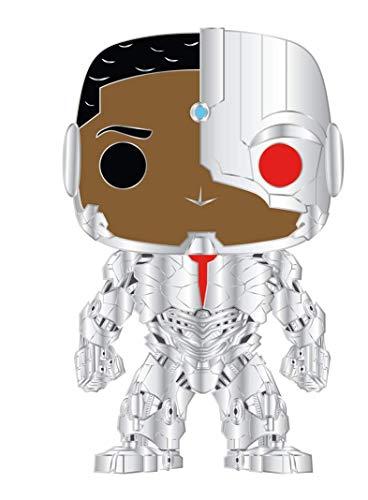 Funko Pop! Pin: DC - Cyborg Multicolor, 3.75 inches