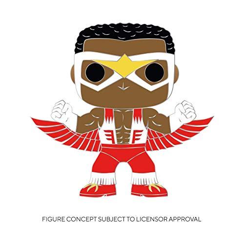 Funko Pop! Pin: Marvel - Falcon Multicolor, 3.75 inches