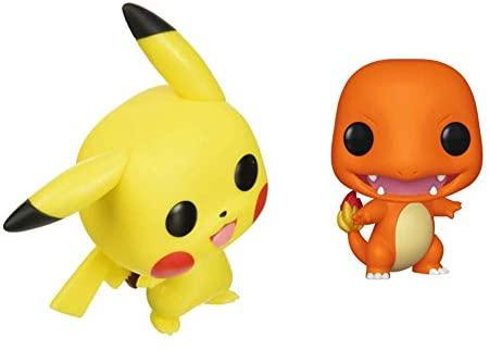 Funko Pop! Pokemon - Pikachu (Waving) Vinyl Figure & Pokemon - Charmander, Multicolor