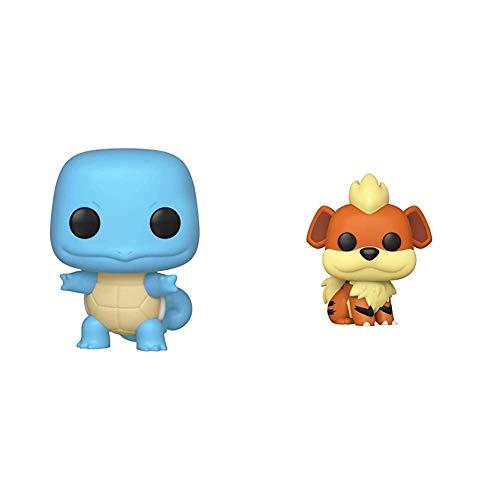 Funko Pop!: Pokemon - Squirtle, Multicolor & Pop! Games: Pokemon - Growlithe, Multicolor