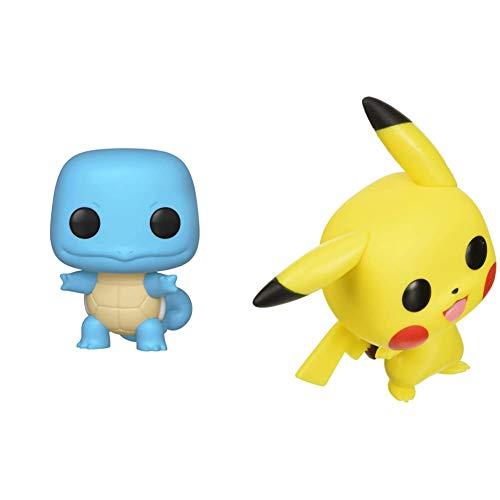 Funko Pop!: Pokemon - Squirtle, Multicolor & Pop! Pokemon - Pikachu (Waving) Vinyl Figure