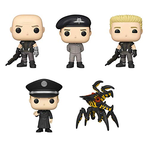 Funko Pop! Set of 5 - Starship Troopers - Warrior Bug, Carl Jenkins, Ace Levy, Rico in Jumpsuit and Jean Rasczak