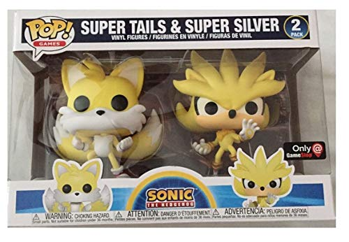 Funko Pop! Sonic The Hedgehog Super Silver and Super Tails 2 Pack 2020 Summer Convention Exclusive