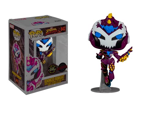 Funko Pop! Spider-Man Maximum Venom Venomized Ironheart GITD Glow in The Dark Chase Exclusive Bobblehead 842
