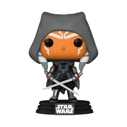 Funko Pop! Star Wars: The Mandalorian - Hooded Ahsoka with Duel Sabers, Amazon Exclusive
