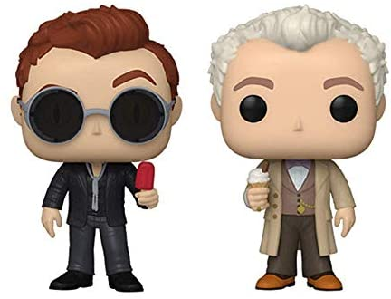 Funko Pop! TV Good Omens Chase Figures - Aziraphale w/Ice Cream and Crowley w/Popsicle