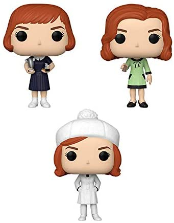 Funko Pop! TV Queen's Gambit Set of 3: Beth Finale, Beth Harmon w/Chess Piece and Beth with Trophies