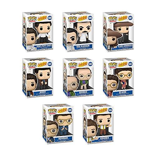 Funko Pop! TV Seinfeld Set of 8: Jerry, Jerry (Puffy Shirt), George, Elaine, Elaine (Sombrero), Kramer, Newman and Yev Kassem (Soup Cook)